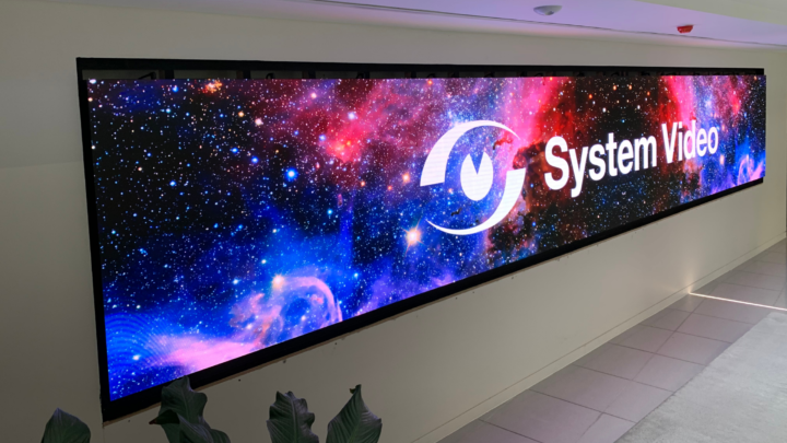 LED video wall installed in a customer's reception area.